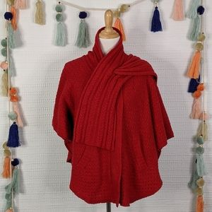 ANTHRO Sparrow Wool Sweater Cape